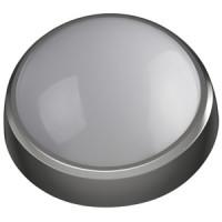 Светодиодный светильник IP54 8Вт 4000К 640лм круг 180х75 СЕРЫЙ
