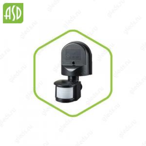 Датчик движения инфракрасный ДД-008-B 1200Вт 180 гр.12м IP44 черный ASD