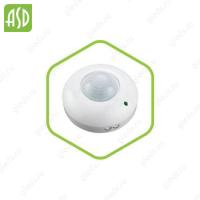 Датчик движения инфракрасный ДД-020B-W 800Вт 360 гр.6м IP33 белый ASD