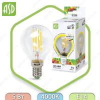 Светодиодная лампа LED Filament COB Е14 5 Вт 4000К 450Лм