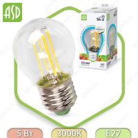 Светодиодная лампа LED Filament COB Е27 5 Вт 3000К 450Лм