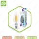 Лампа светодиодная LED-СВЕЧА-PREMIUM 7Вт 160-260В Е14 3000К 630Лм прозрачная ASD