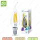 Лампа светодиодная LED-СВЕЧА НА ВЕТРУ-PREMIUM 7Вт 160-260В Е14 3000К 630Лм прозрачная ASD