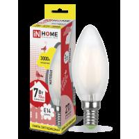 Лампа светодиодная LED-СВЕЧА-deco 7Вт 230В Е14 3000К 630Лм матовая IN HOME