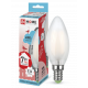 Лампа светодиодная LED-СВЕЧА-deco 7Вт 230В Е14 4000К 630Лм матовая IN HOME