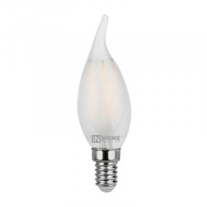 Лампа светодиодная LED-СВЕЧА НА ВЕТРУ-deco 5Вт 230В Е14 4000К 450Лм матовая IN HOME