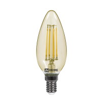 Лампа светодиодная LED-СВЕЧА-deco 7Вт 230В Е14 3000К 630Лм золотистая IN HOME