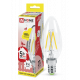 Лампа светодиодная LED-СВЕЧА-deco 5Вт 230В Е14 3000К 450Лм прозрачная IN HOME