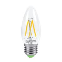 Лампа светодиодная LED-СВЕЧА-deco 5Вт 230В Е14 4000К 450Лм прозрачная IN HOME
