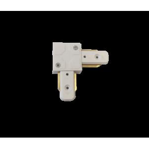 Коннектор для трекового светильника угловой белый