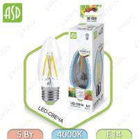 Светодиодная лампа LED Filament COB свеча E14 5 Вт 4000К 450Лм