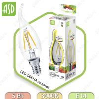 Светодиодная лампа LED Filament COB свеча на ветру E14 5 Вт 3000К 450Лм