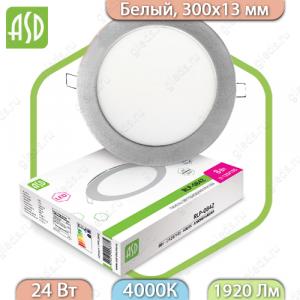 Панель светодиодная круглая RLP-eco 24Вт 160-260В 4000К 1440Лм 300/285мм белая IP40