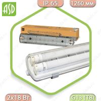 Светильник светодиодный влагозащищенный ССП-456 2х18Вт LED-T8/G13 IP65 ASD