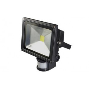 Светодиодный прожектор BR-FL-20W-PIR White (Black, AC220V)