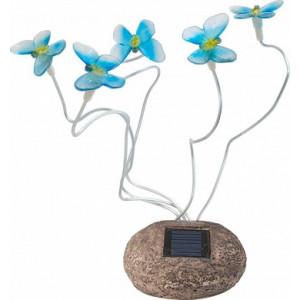 Светильник садово-парковый на солнечной батарее, 5 белых LED, синий, CD712B