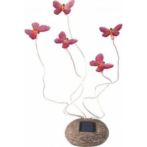Светильник садово-парковый на солнечной батарее, 5 белых LED, розовый, CD712P