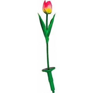 """Светильник садово-парковый на солнечной батарее """"Тюльпан"""", 1 белый LED, 75*600мм, E5206"""