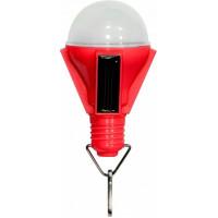 """Светильник садово-парковый на солнечной батарее """"Лампочка"""", 4  LED красный, 72*72*112мм , PL262"""