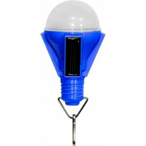 """Светильник садово-парковый на солнечной батарее """"Лампочка"""", 4  LED синий, 72*72*112мм , PL262"""