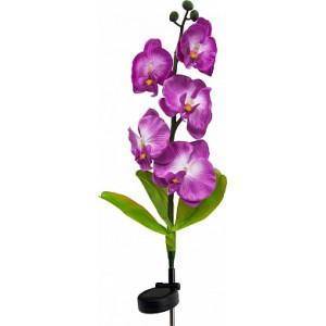 """Светильник садово-парковый на солнечной батарее """"Орхидея фиолетовая"""", 5 LED  белый, 70см , PL301"""