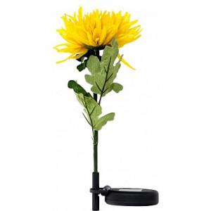 """Светильник садово-парковый на солнечной батарее """"Астра"""" желтый, 1 LED  белый, 75см , PL303"""