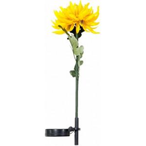 """Светильник садово-парковый на солнечной батарее """"Хризантема"""" желтый, 1  LED белый, PL305"""
