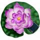 """Светильник садово-парковый на воду на солнечной батарее """"Кувшинка"""" сиреневый, 1 RGB LED,  170*170*60мм, PL263"""