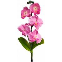 """Светильник садово-парковый на солнечной батарее """"Орхидея розовая"""", 5 LED  белый, 70см , PL301"""