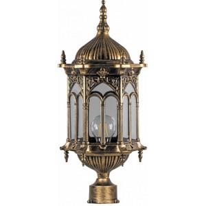 Светильник садово-парковый Feron PL114 шестигранный на столб 60W 230V E27 черное золото