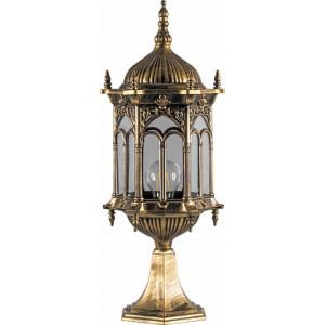 Светильник садово-парковый Feron PL115 шестигранный на постамент 60W 230V E27 черное золото