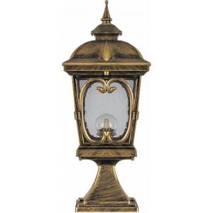 Светильник садово-парковый Feron PL136 четырехгранный на постамент 100W 230V E27, черное золото