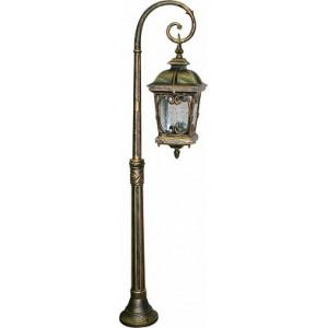 Светильник садово-парковый Feron PL148 столб четырехгранный 100W 230V E27, черное золото