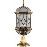 Светильник садово-парковый Feron PL171 шестигранный на постамент 60W E27 230V, черное золото