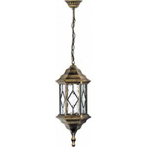 Светильник садово-парковый Feron PL125 шестигранный на цепочке 60W E27 230V, черное золото