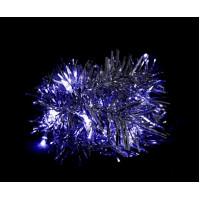 Светодиодная гирлянда Feron CL404 мишура синий с питанием от батареек