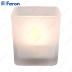 Свеча светодиодная Стекло-квадрат FL062 2LED янтарный 84mm*89mm
