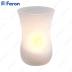 Свеча светодиодная Стекло-рюмка FL064 2LED янтарный 57mm*85mm