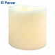 Свеча светодиодная Короткий цилиндр FL066 2LED янтарный 75mm*75mm