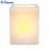 Свеча светодиодная Прямоугольная FL068 2LED янтарный 75mm*75mm*10mm