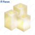 Свечи светодиодные Прямоугольные FL073 3 шт*1LED янтарный, с П/У, 8*8*10; 8*8*12,5; 8*8*15 см