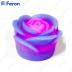 Свеча светодиодная Фиолетовая FL090 1шт*1LED красный, 80*80*150mm