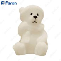 Свеча светодиодная Медвежонок FL110 1LED янтарный 150mm*125mm