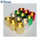 Свечи светодиодные Цилиндры набор из 12 шт*1LED разноцветных FL078, 1LED теплый белый, 4,1*4,6 см