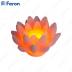 Свеча светодиодная Лотос розовый FL091 1 шт*1LED янтарный,11,5*7,5 см
