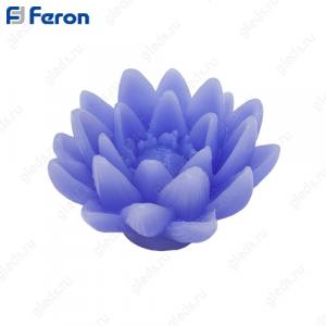 Свеча светодиодная Лотос фиолетовый FL091 1 шт*1LED янтарный,11,5*7,5 см