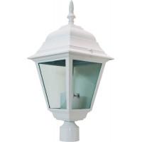 Светильник садово-парковый 4103 60W 230V E27 150*150*320мм белый