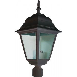 Светильник садово-парковый 4103 60W 230V E27 150*150*320мм черный