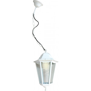 Светильник садово-парковый 6105 60W 230V E27 170*170*310мм белый