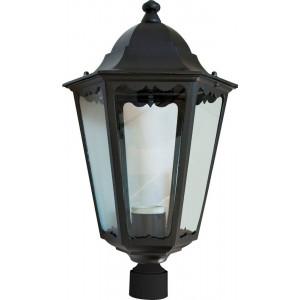 Светильник садово-парковый 6203 100W 230V E27 195*195*360мм черный